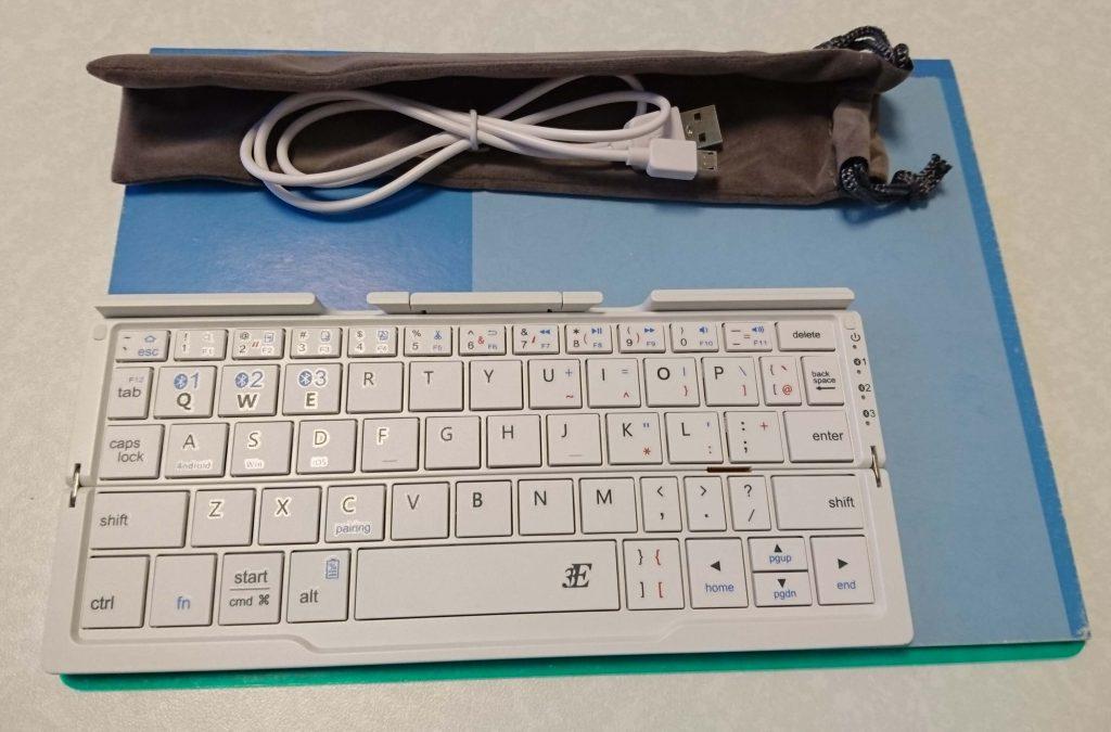 Bluetoothキーボード「プリエ」b5ノート比較